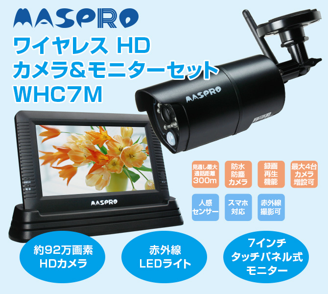 ワイヤレスHDカメラ&モニターセット